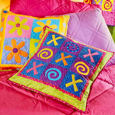 Tic-Tac-Toe and Daisy Pillows