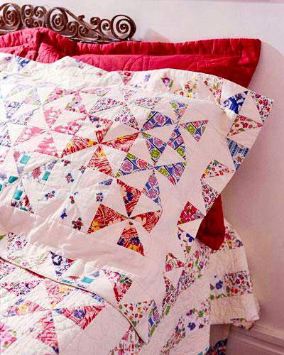 Pieced Pinwheels Pillow Sham