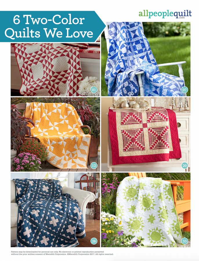 6 Two-Color Quilts We Love