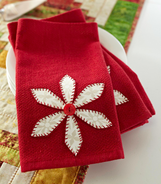 Poinsettia Napkins