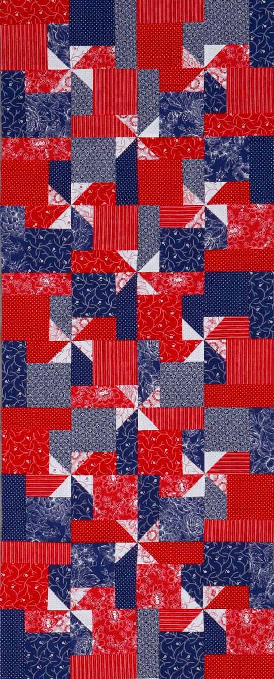Patriotic Pinwheels Table Runner
