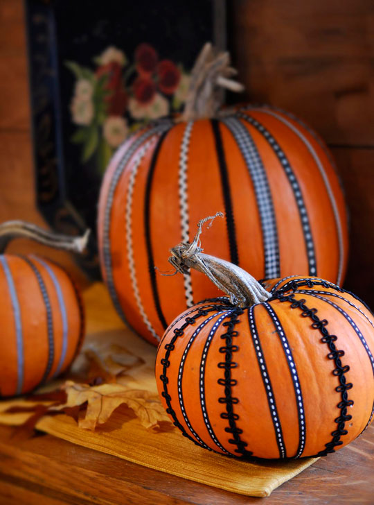 Ribbon and Rickrack Pumpkin