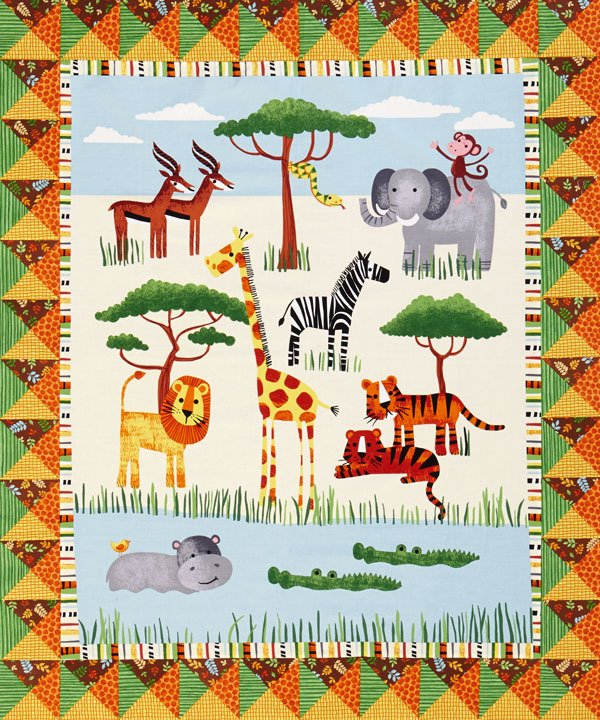 Safari Fun Panel Quilt