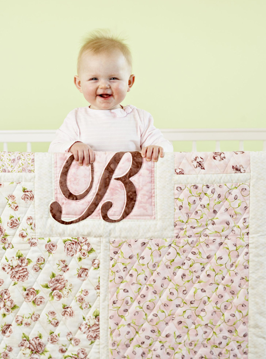 Girl or Boy Monogram Crib Quilt