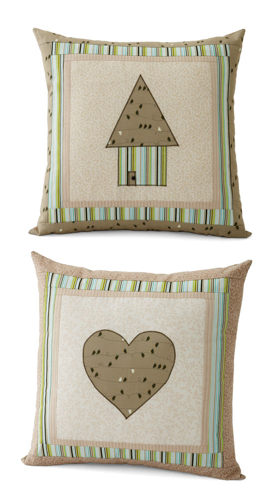 House and Heart Pillow