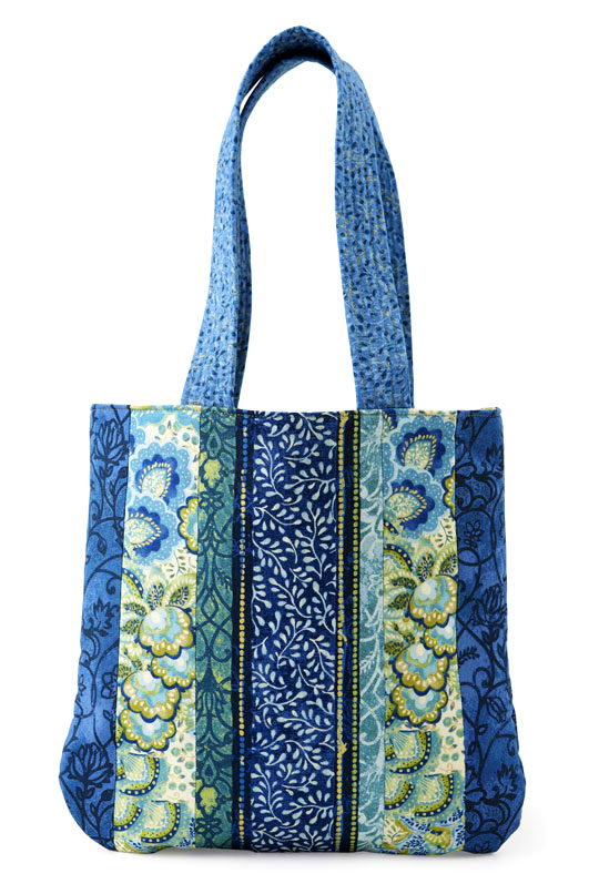 Floral Strips Bag