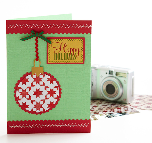 Quilted Ornament Card