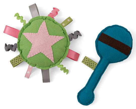 Ribbon and Rickrack Baby Toys