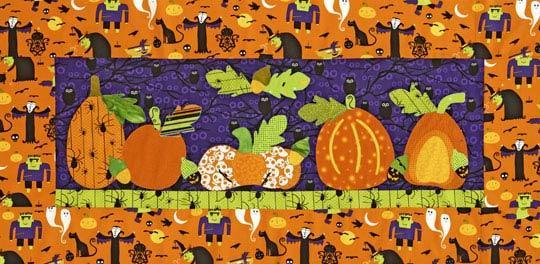 Spooky Pumpkins Wall Quilt