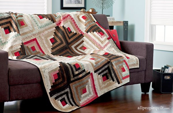 Log Cabin Christmas Quilt.Log Cabin Quilt Patterns Allpeoplequilt Com