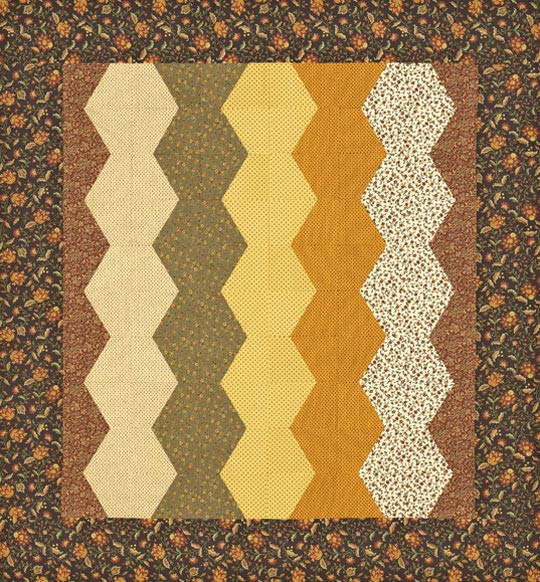 Fall Spice Bed Quilt