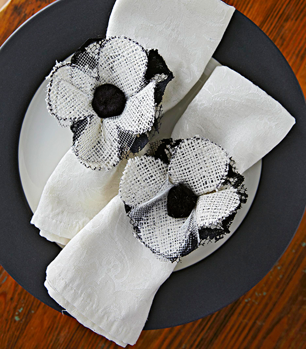 Spooky Bloom Napkin Ties