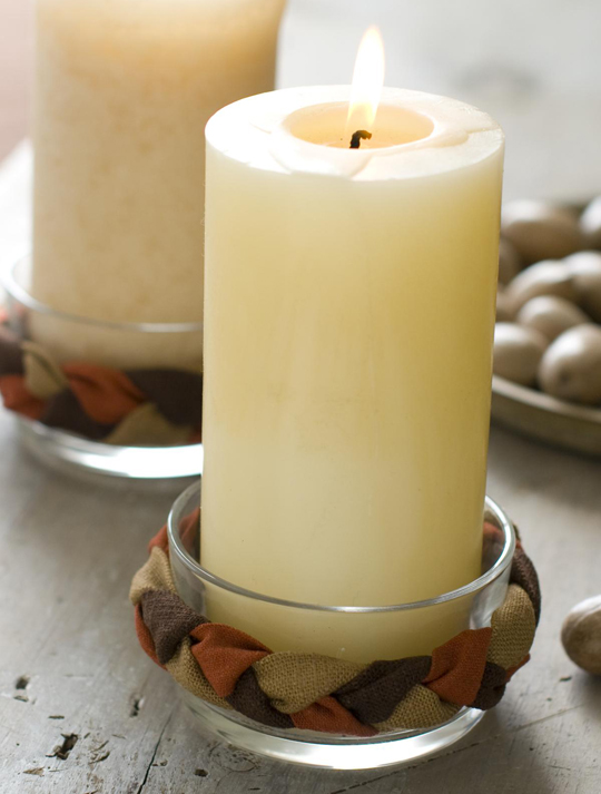 Braided Candle Holder