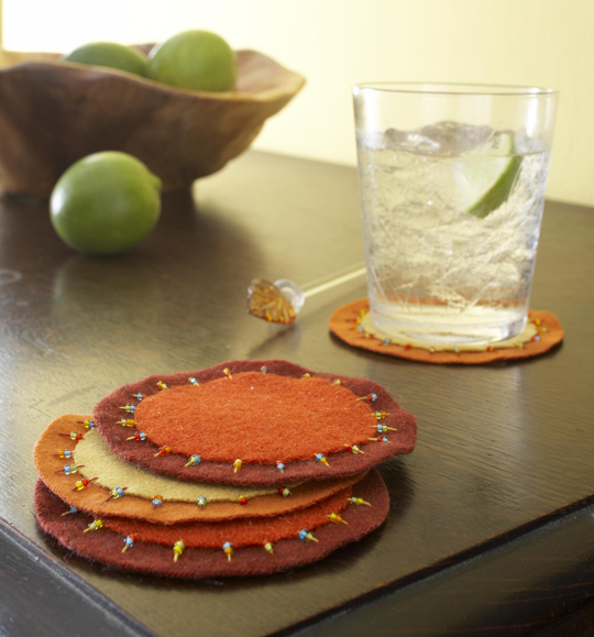 Beaded Harvest Coasters