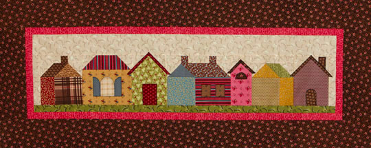 Rowhouses Wall Quilt