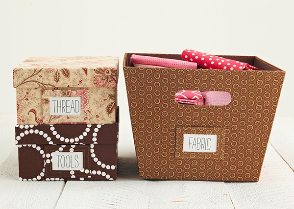 Fabric Boxes from Quilted Koala
