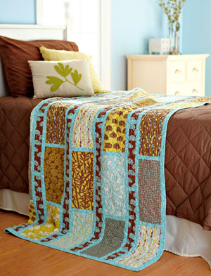 Simple Sashing and Rectangles Quilt