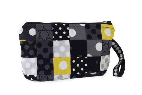Pieced Polka Dot Pouch