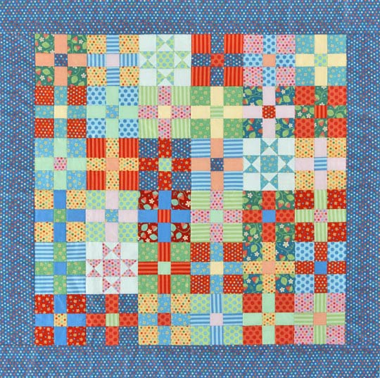 Uneven Nine-Patch & Star Quilt