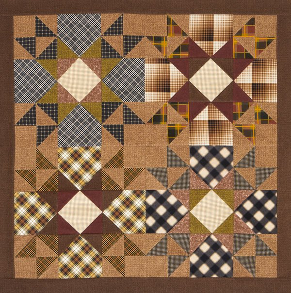 Plaid Stars Wall Quilt