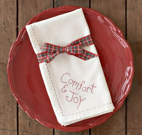 Comfort and Joy Napkin