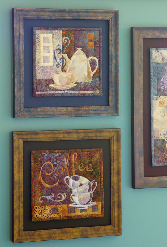 Blocks from McKenna's Coffee Classics series can be frame