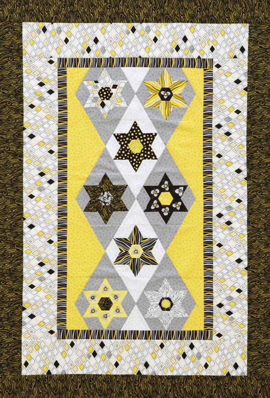 Hexagon and Stars Wall Hanging