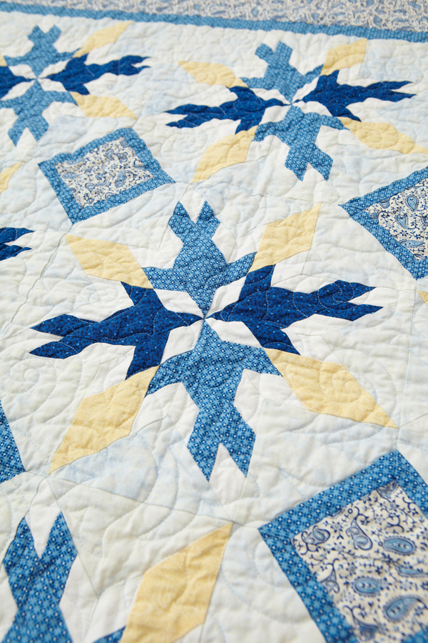 Blue Birds Machine-Quilting Details