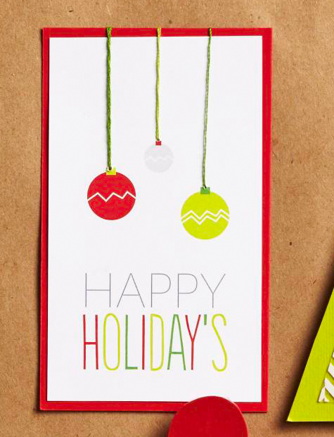 Hanging Ornaments Gift Tag