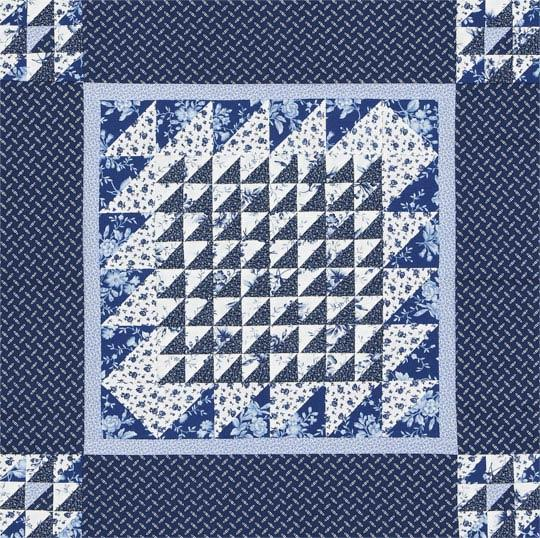 Little Blue Triangle-Squares