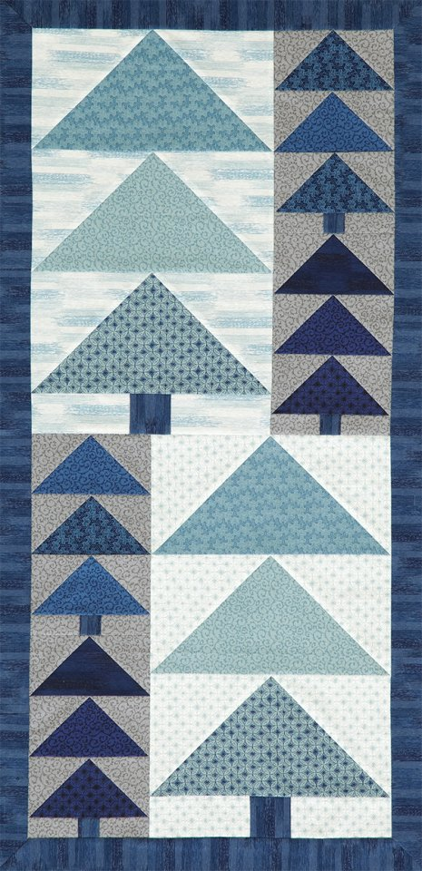 Icy Blues Wall Hanging