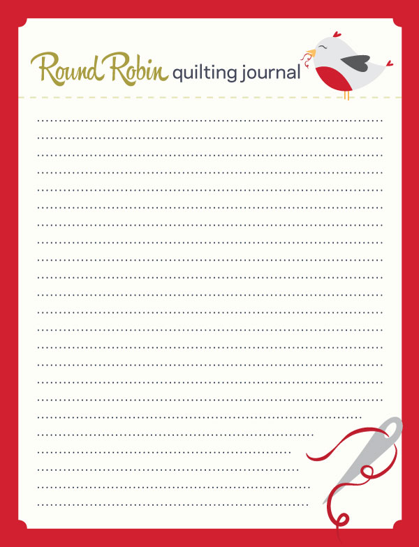 Red Journaling Card