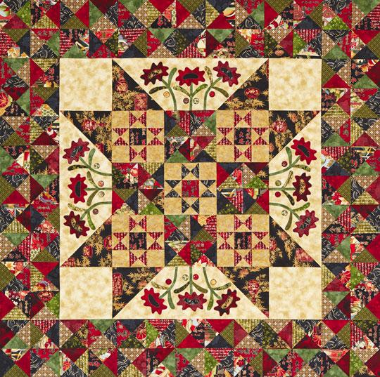 Midnight Blooms Quilt