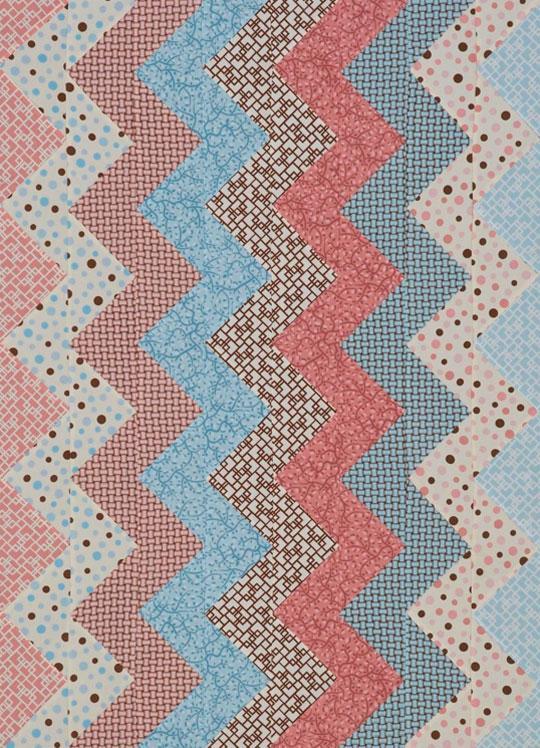 Zigzag Flannel Crib Quilt
