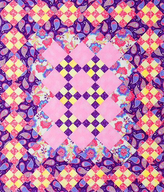 Pink Checkerboard Throw