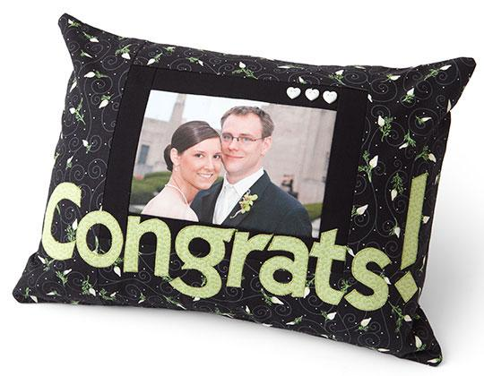 Congrats Applique Pillow