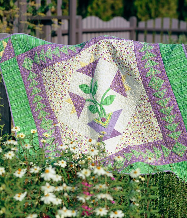 Flower Hand-Appliqué Quilts