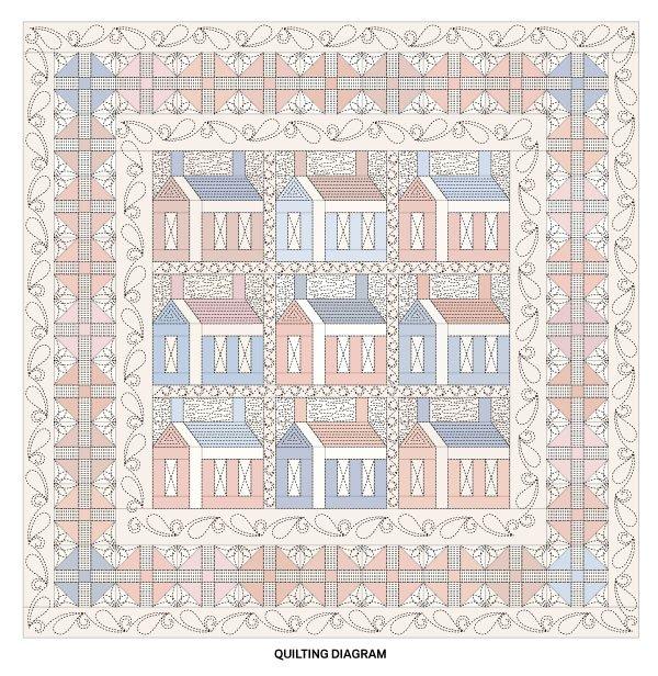 Americana Home Quilting Diagram