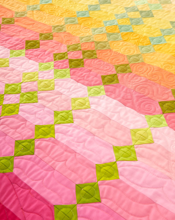 Sunrise Machine-Quilting Details