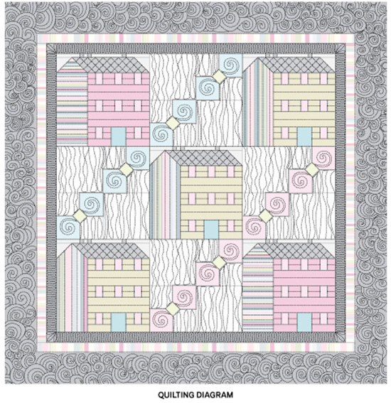 Where the Heart Is Quilting Diagram