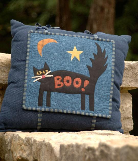 Spooky Cat Pillow
