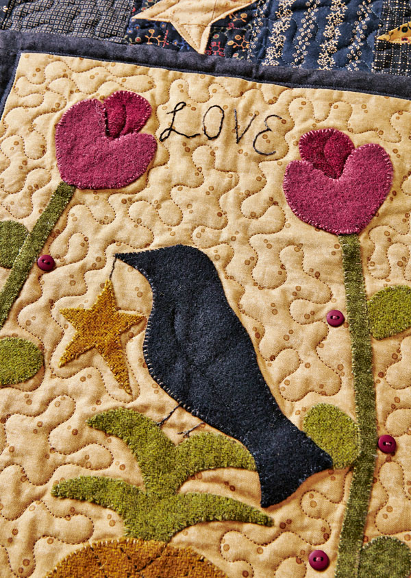 Welcome Love Machine-Quilting Detail