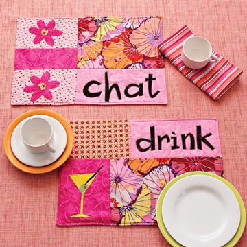 Chat and Drink Place Mats