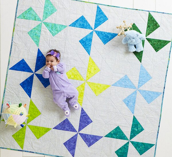 Spinning Circles Throw Quilt Pattern for 2020