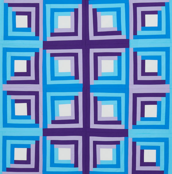 Flashback Quilt: Log Cabin Color Option #2