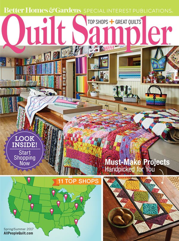 Table Of Contents Quilt Sampler Spring Summer 2017