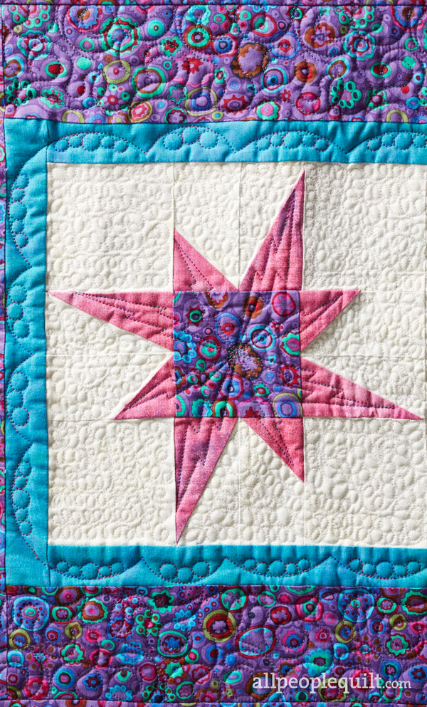 Shining Stars Machine-Quilting Details