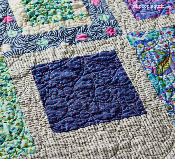 Fresh Steps Machine-Quilting Detail
