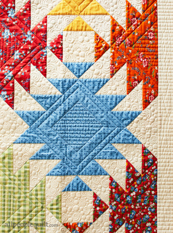 Spring Flight Machine-Quilting Detail