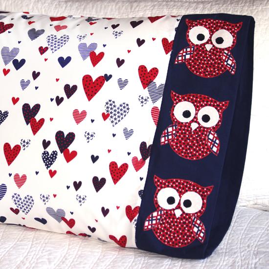 Benartex - Pillowcase 67 Owl Appliqué